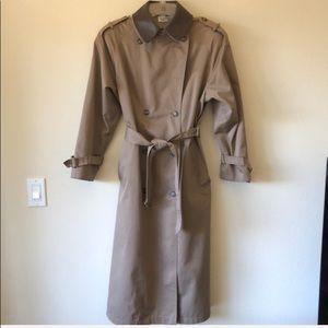 Vintage JG Hook trench coat leather collar